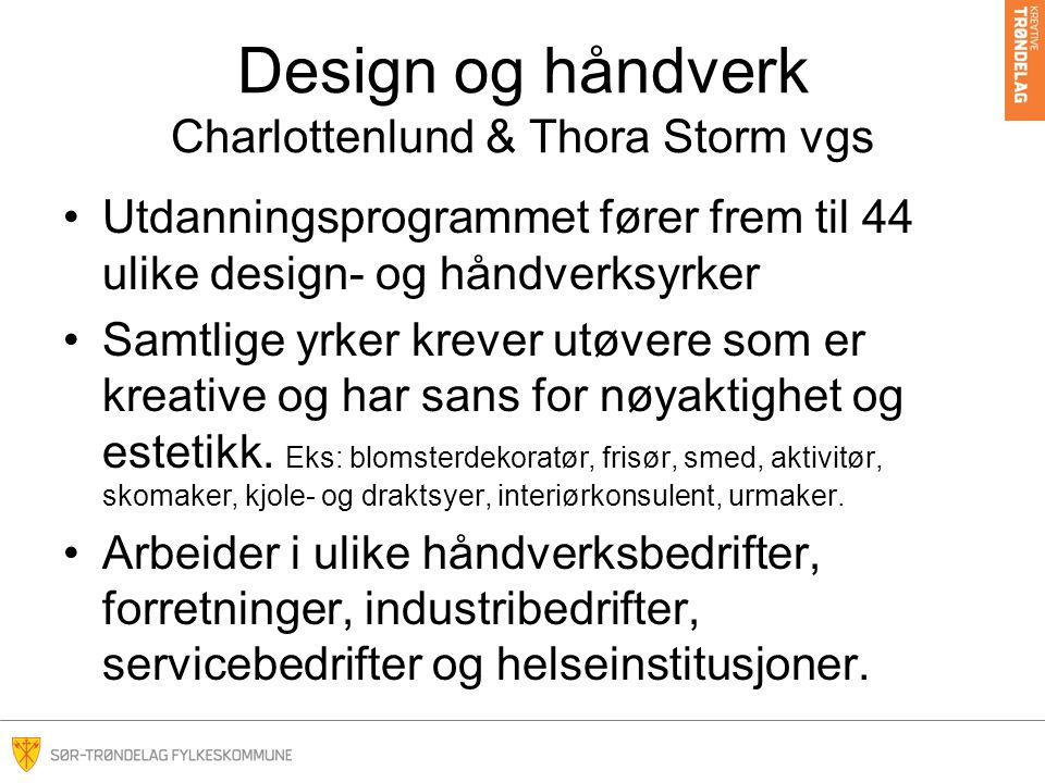 Design og håndverk Charlottenlund & Thora Storm vgs