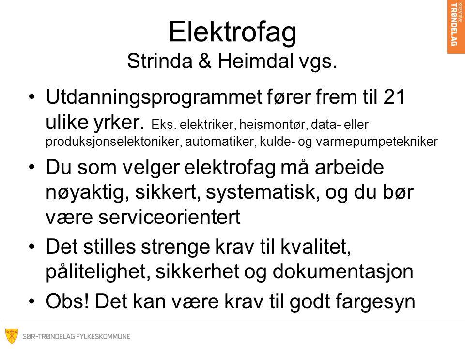 Elektrofag Strinda & Heimdal vgs.