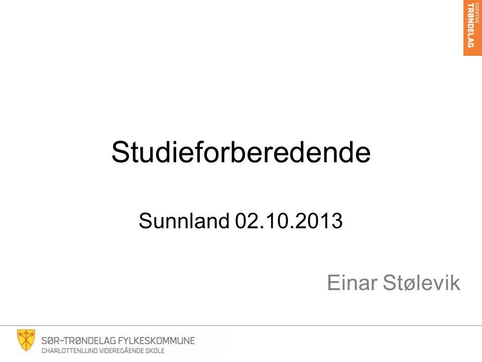 Sunnland 02.10.2013 Einar Stølevik