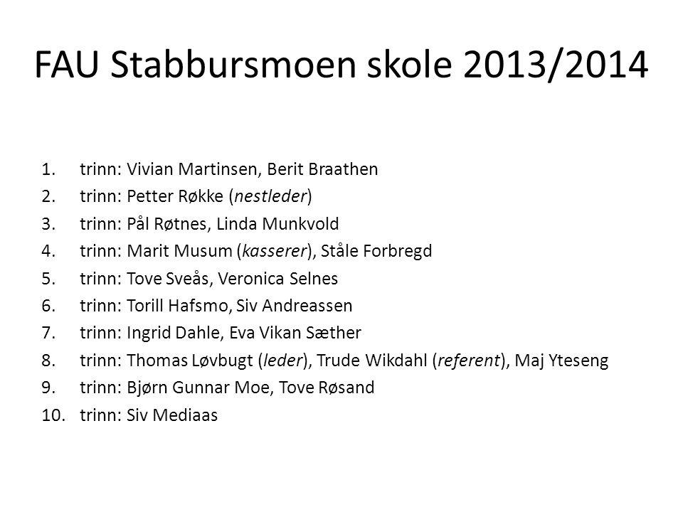 FAU Stabbursmoen skole 2013/2014