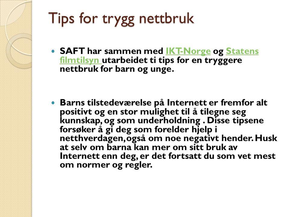 Tips for trygg nettbruk