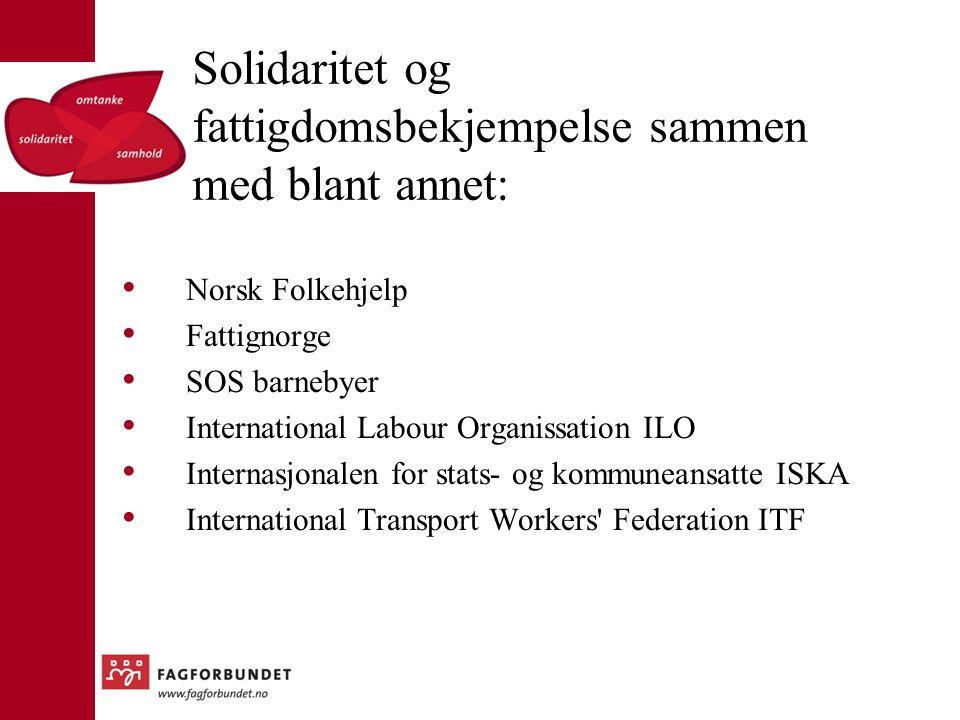 Solidaritet og fattigdomsbekjempelse sammen med blant annet: