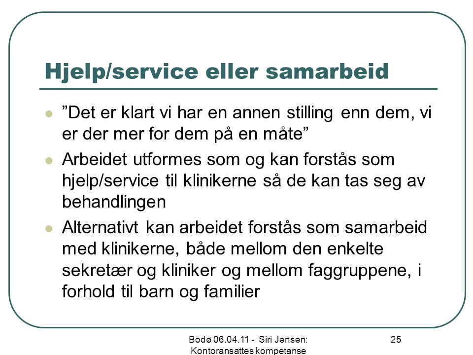 Hjelp/service eller samarbeid