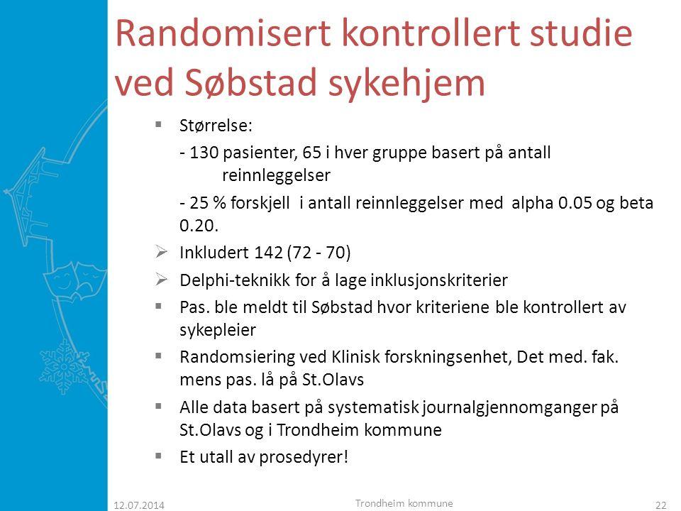 Randomisert kontrollert studie ved Søbstad sykehjem
