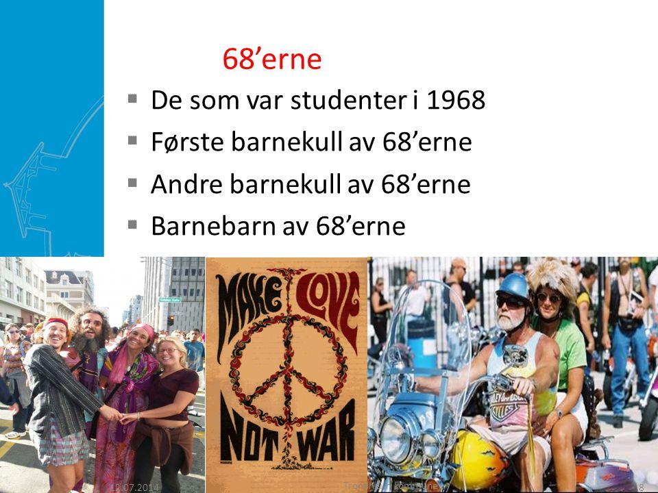 68'erne De som var studenter i 1968 Første barnekull av 68'erne