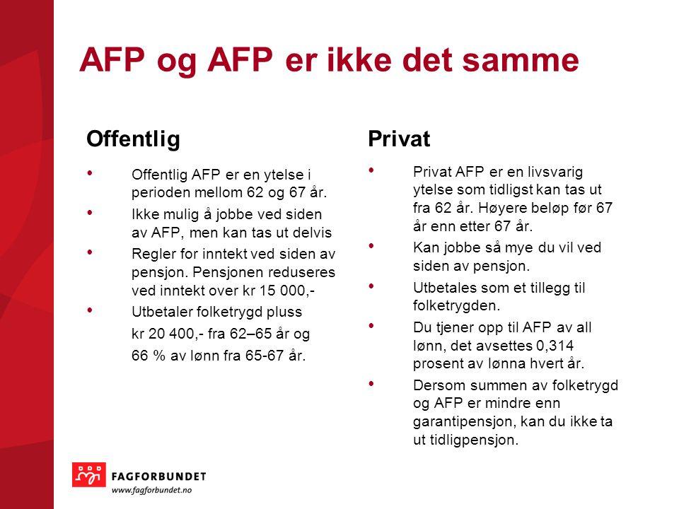 AFP og AFP er ikke det samme