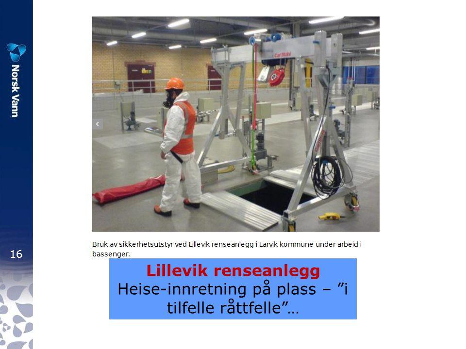 Heise-innretning på plass – i tilfelle råttfelle …