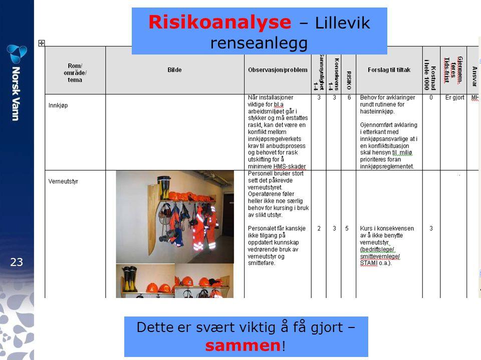 Risikoanalyse – Lillevik renseanlegg