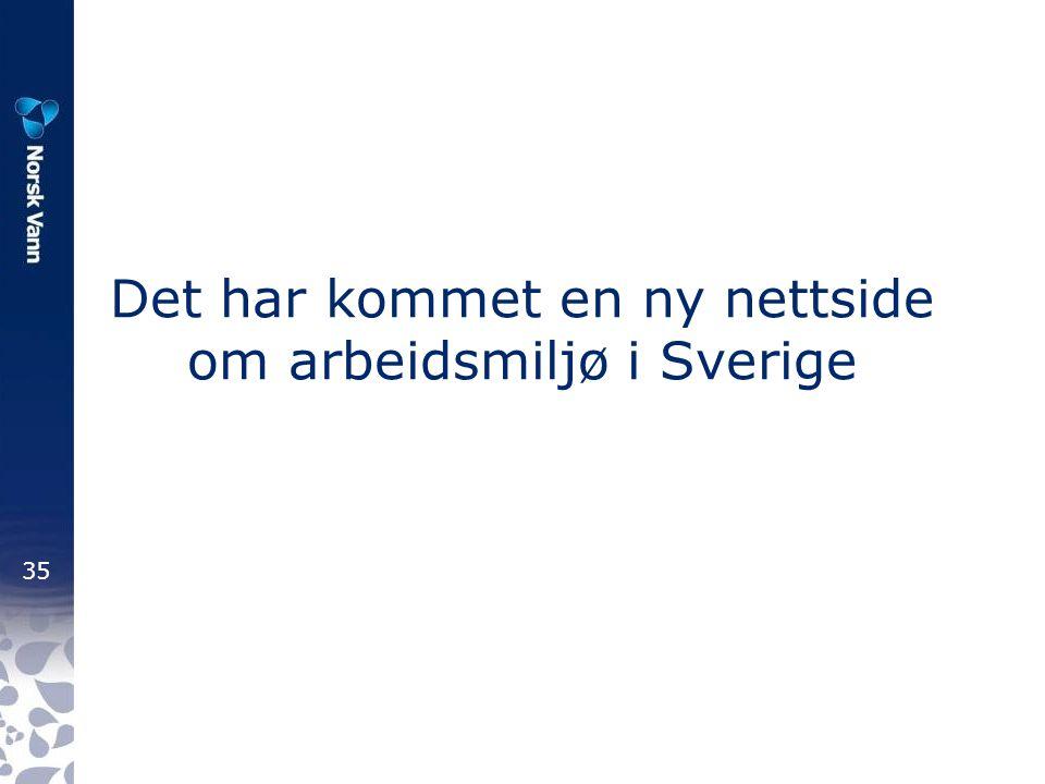 Det har kommet en ny nettside om arbeidsmiljø i Sverige