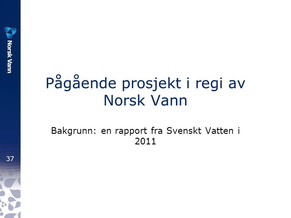 Pågående prosjekt i regi av Norsk Vann