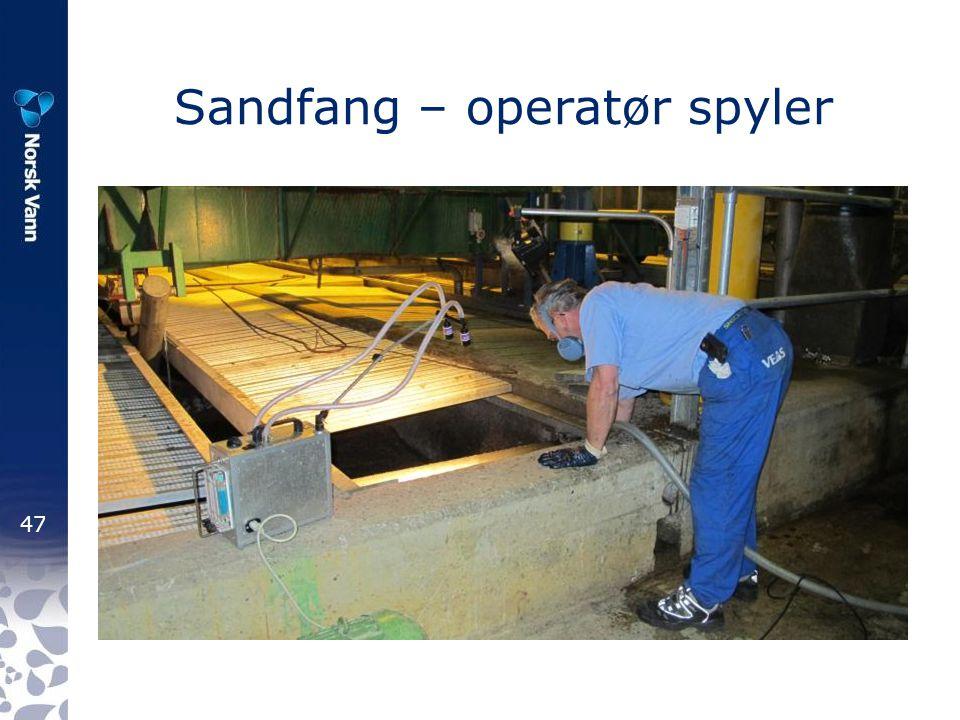 Sandfang – operatør spyler