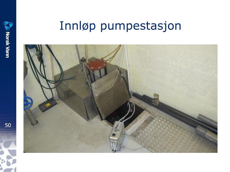 Innløp pumpestasjon