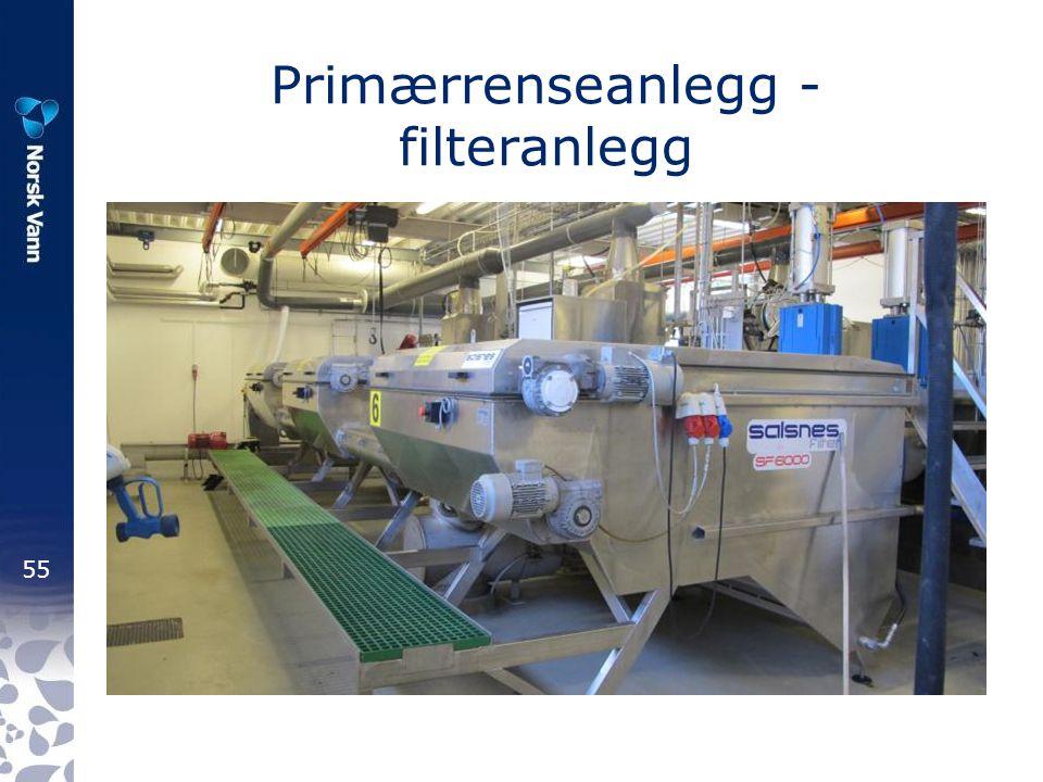 Primærrenseanlegg - filteranlegg