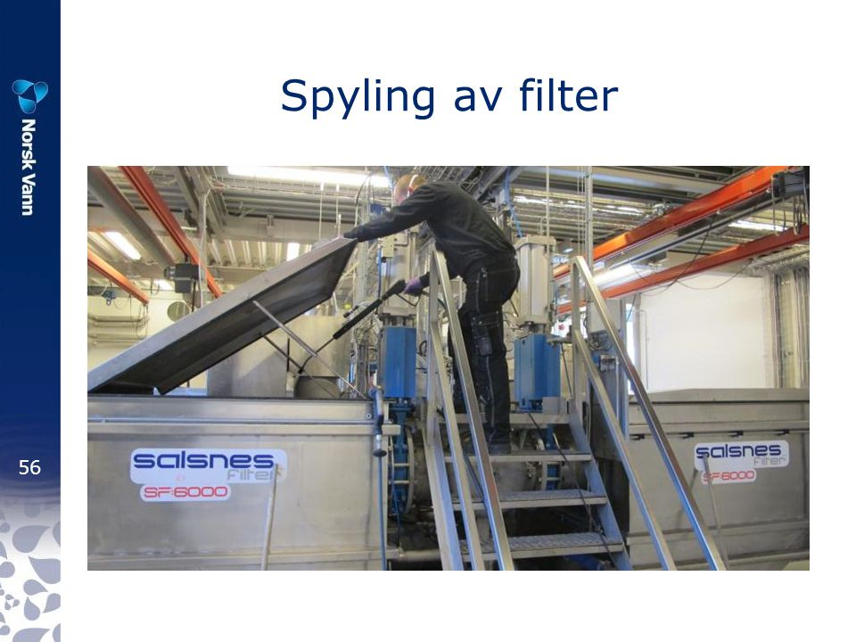 Spyling av filter