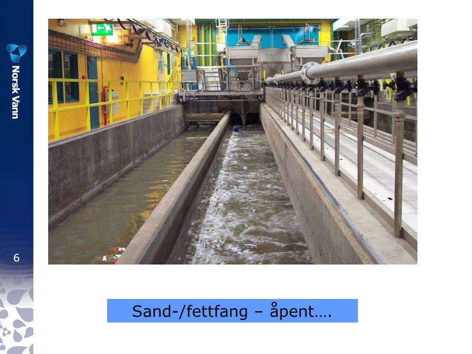 Sand-/fettfang – åpent….