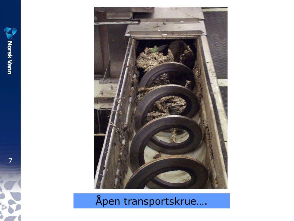 Åpen transportskrue….