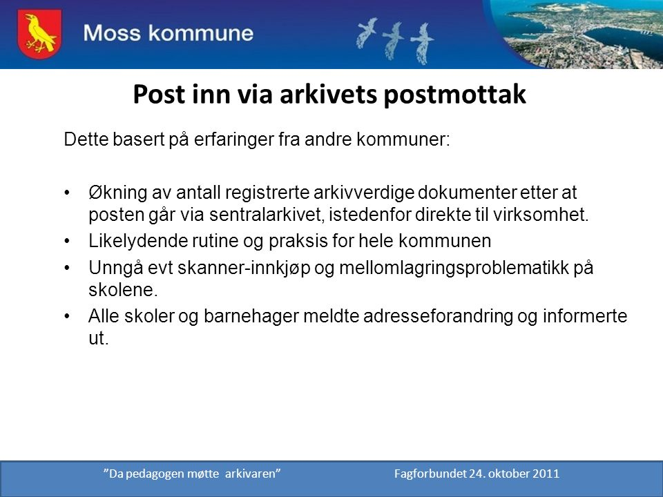 Post inn via arkivets postmottak