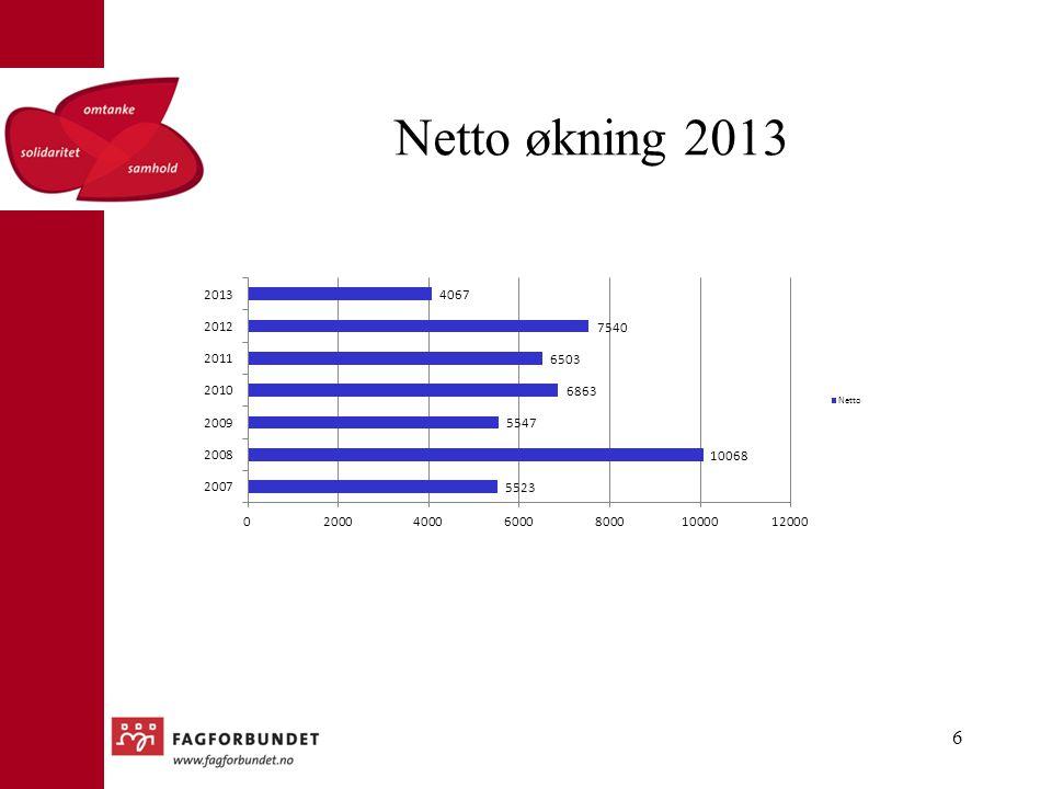Netto økning 2013