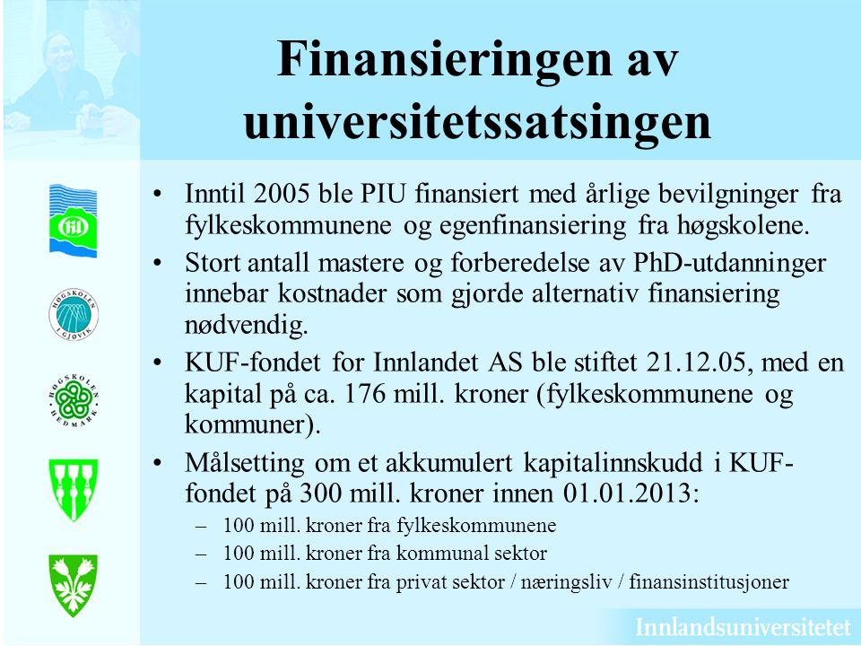 Finansieringen av universitetssatsingen