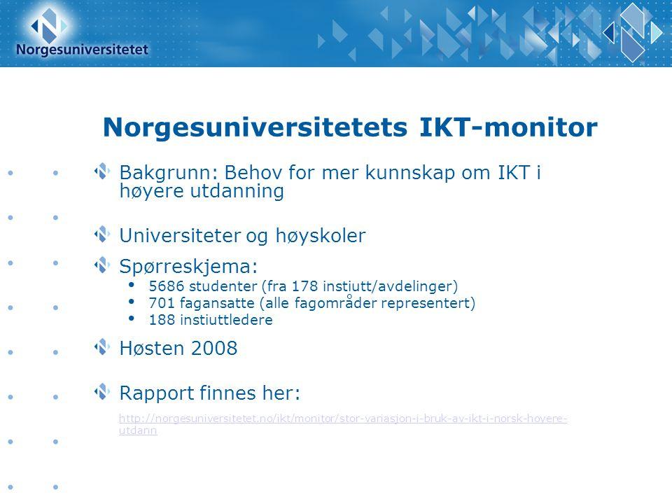 Norgesuniversitetets IKT-monitor