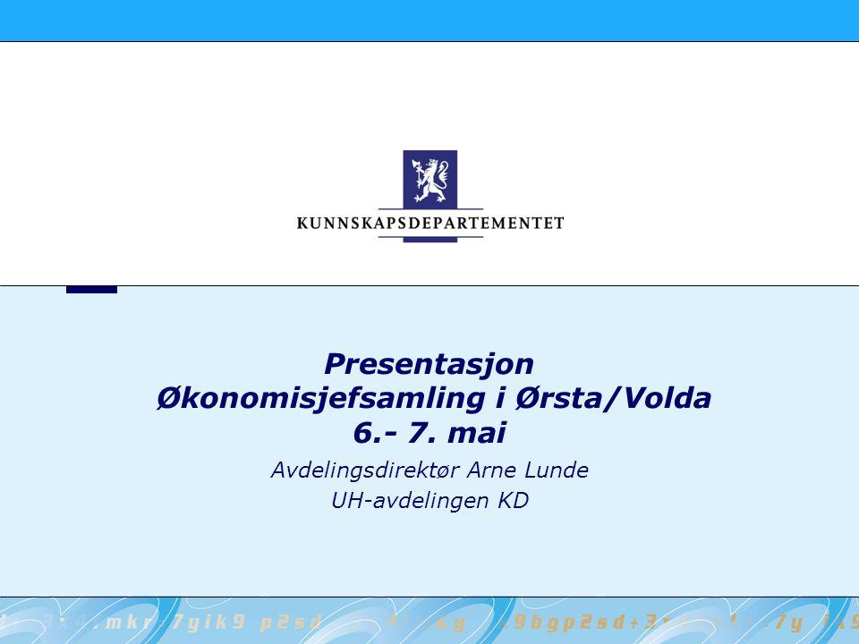Presentasjon Økonomisjefsamling i Ørsta/Volda 6.- 7. mai
