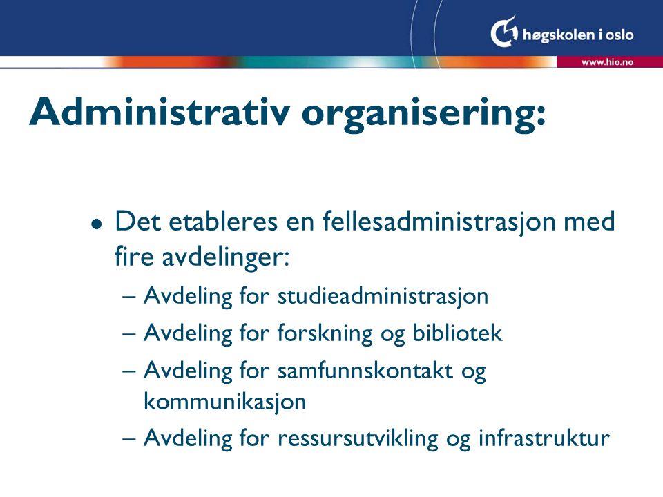Administrativ organisering: