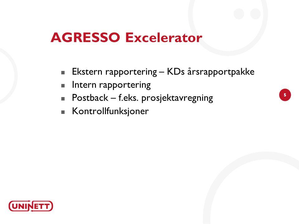 AGRESSO Excelerator Ekstern rapportering – KDs årsrapportpakke