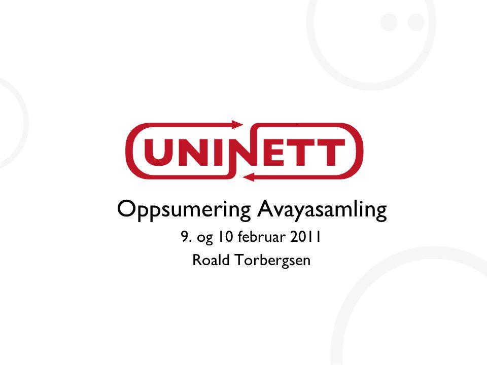 Oppsumering Avayasamling 9. og 10 februar 2011 Roald Torbergsen