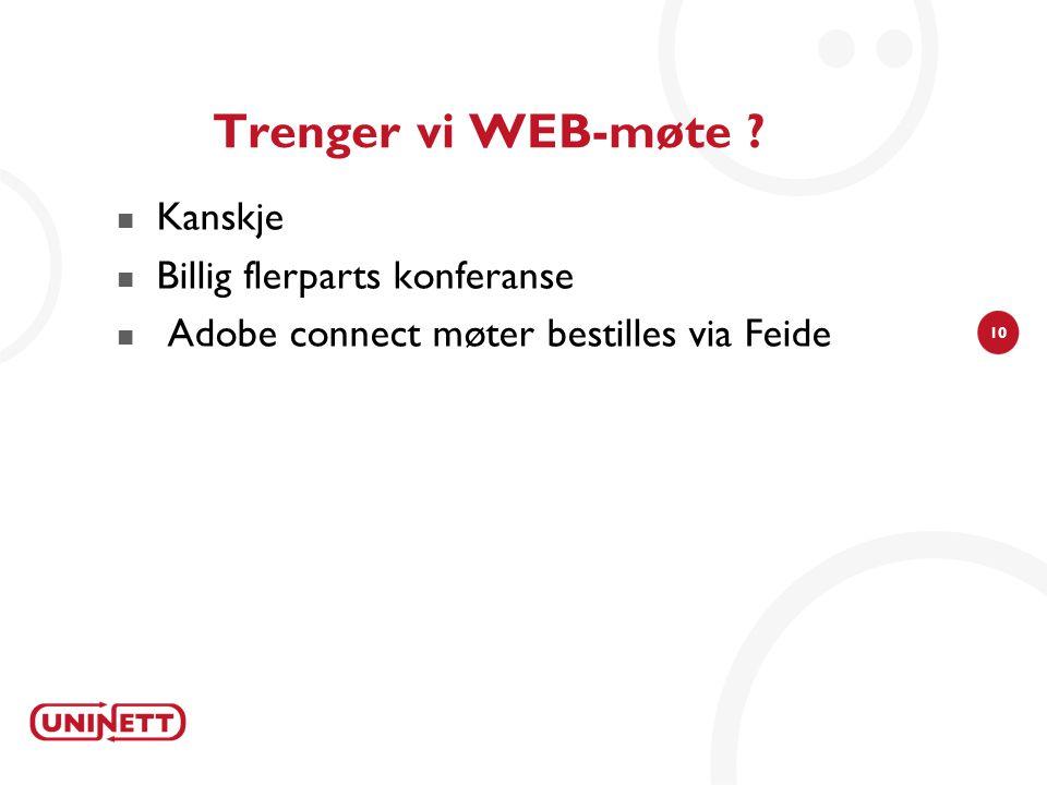 Trenger vi WEB-møte Kanskje Billig flerparts konferanse