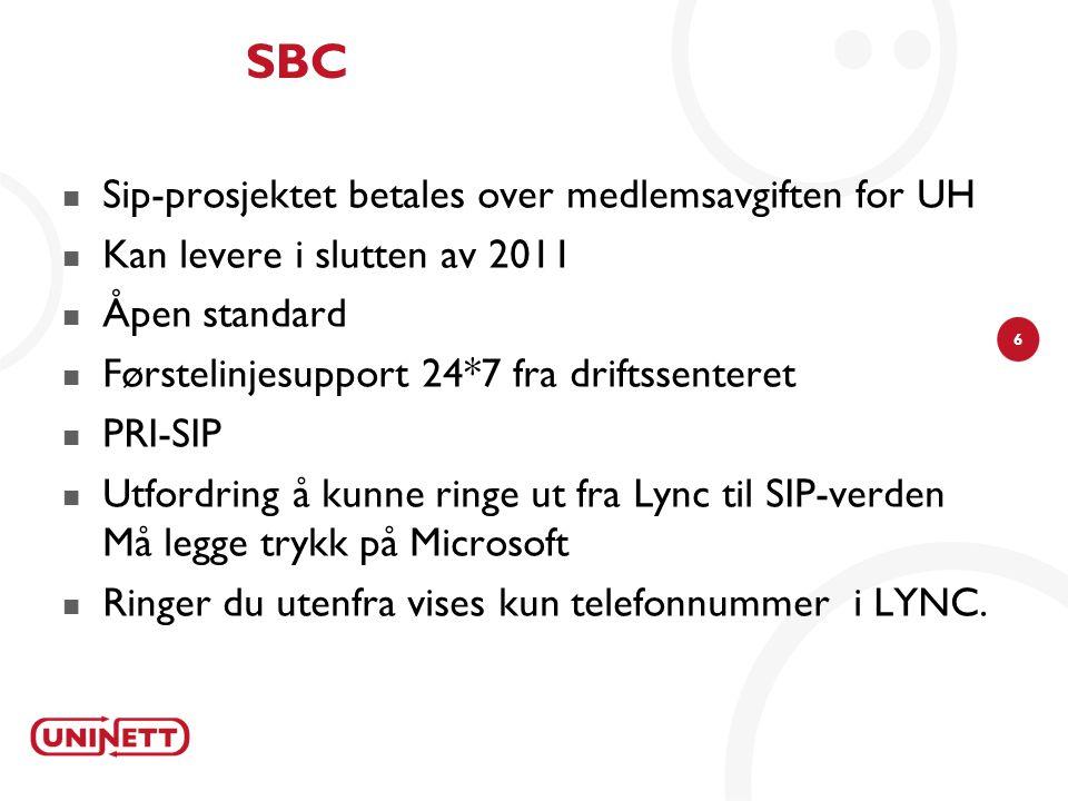 SBC Sip-prosjektet betales over medlemsavgiften for UH