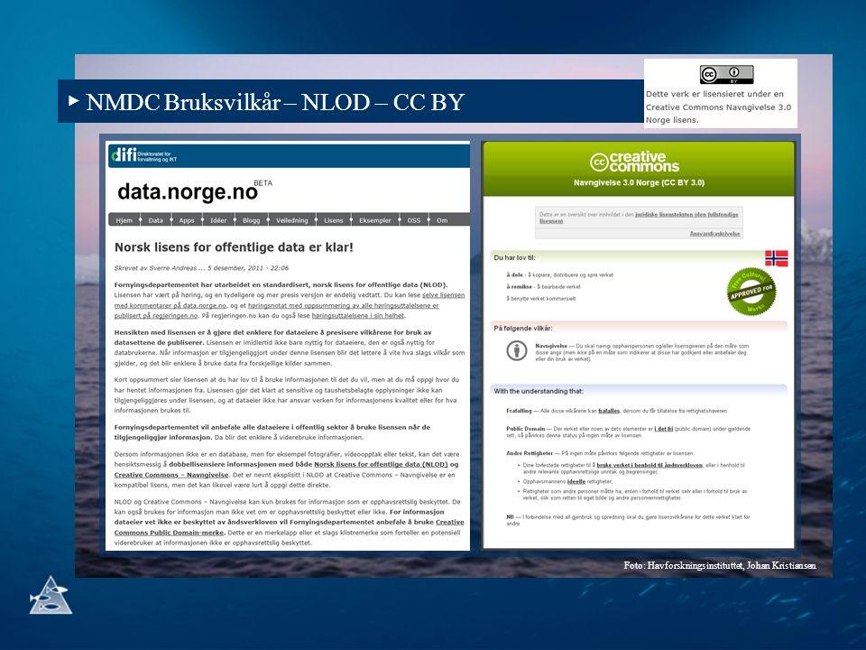 ▶ NMDC Bruksvilkår – NLOD – CC BY