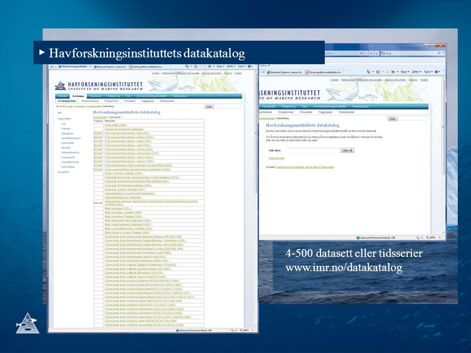 ▶ Havforskningsinstituttets datakatalog