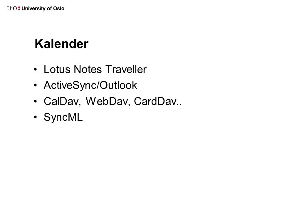 Kalender Lotus Notes Traveller ActiveSync/Outlook