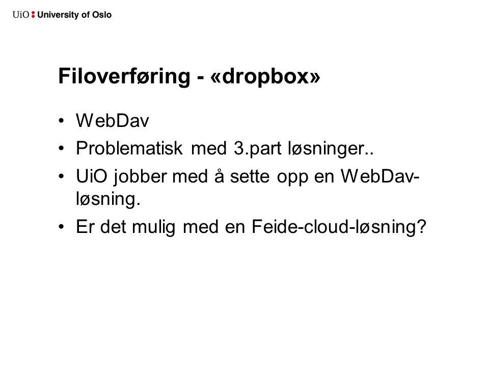 Filoverføring - «dropbox»