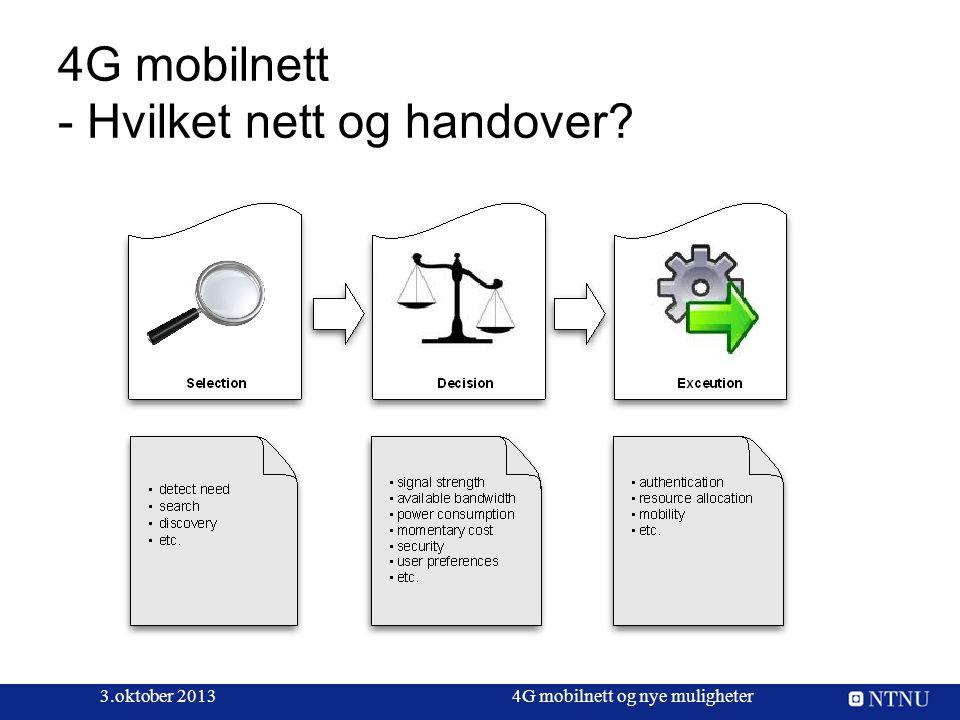 4G mobilnett - Hvilket nett og handover