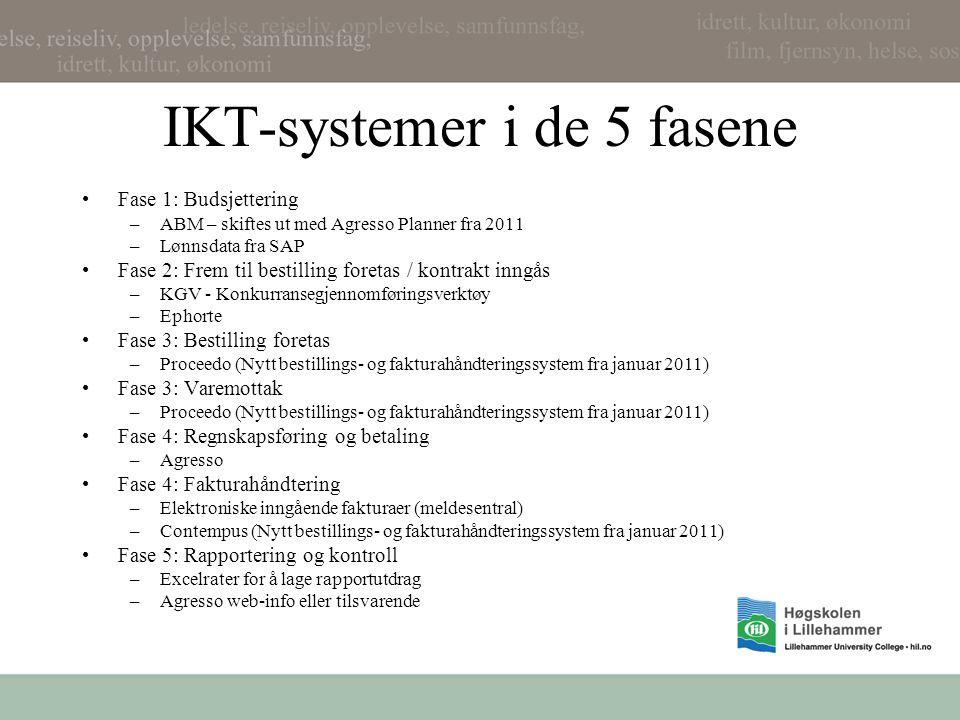 IKT-systemer i de 5 fasene