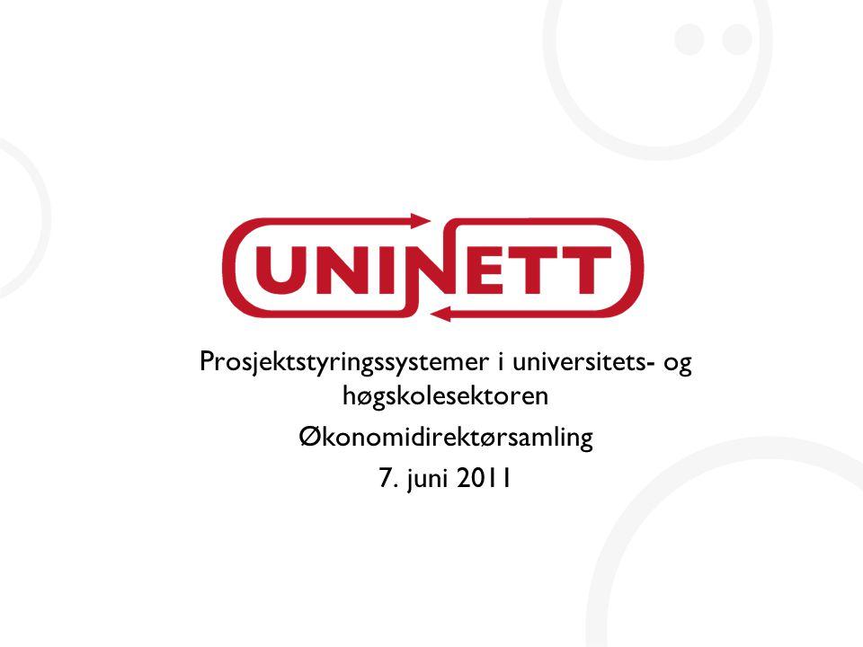 Prosjektstyringssystemer i universitets- og høgskolesektoren