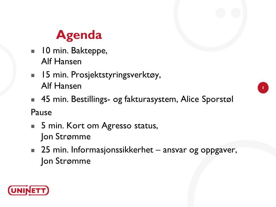 Agenda 10 min. Bakteppe, Alf Hansen