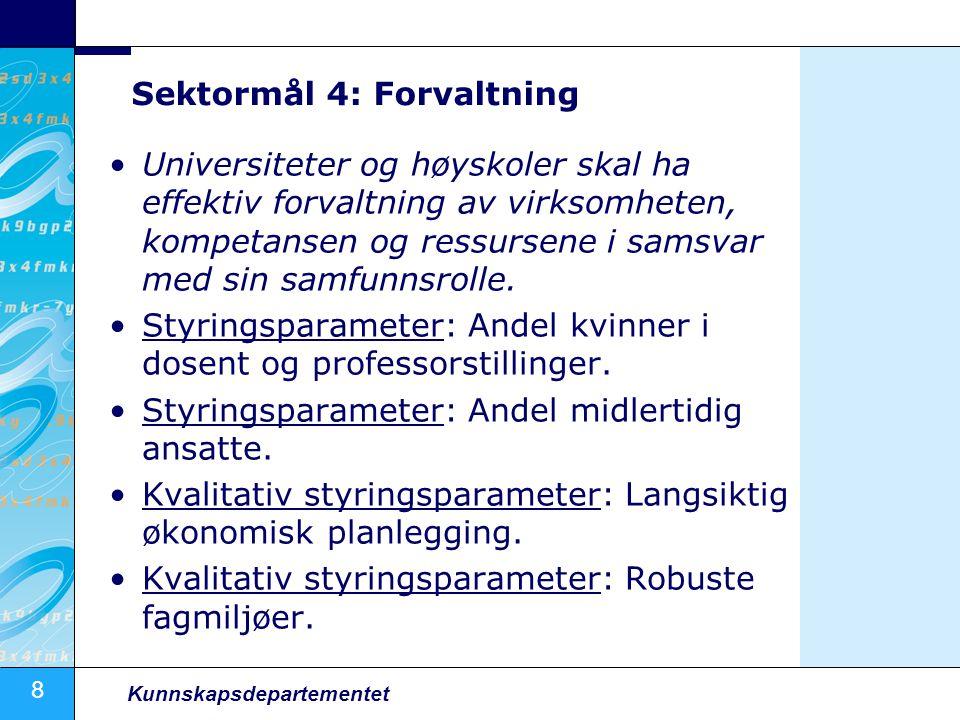 Sektormål 4: Forvaltning