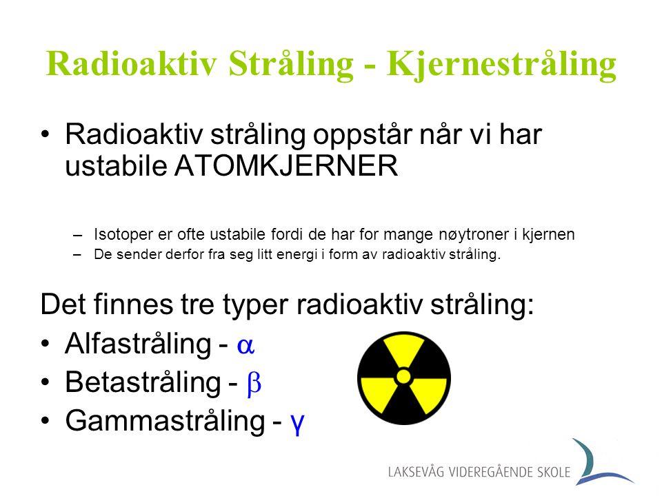 Radioaktiv Stråling - Kjernestråling