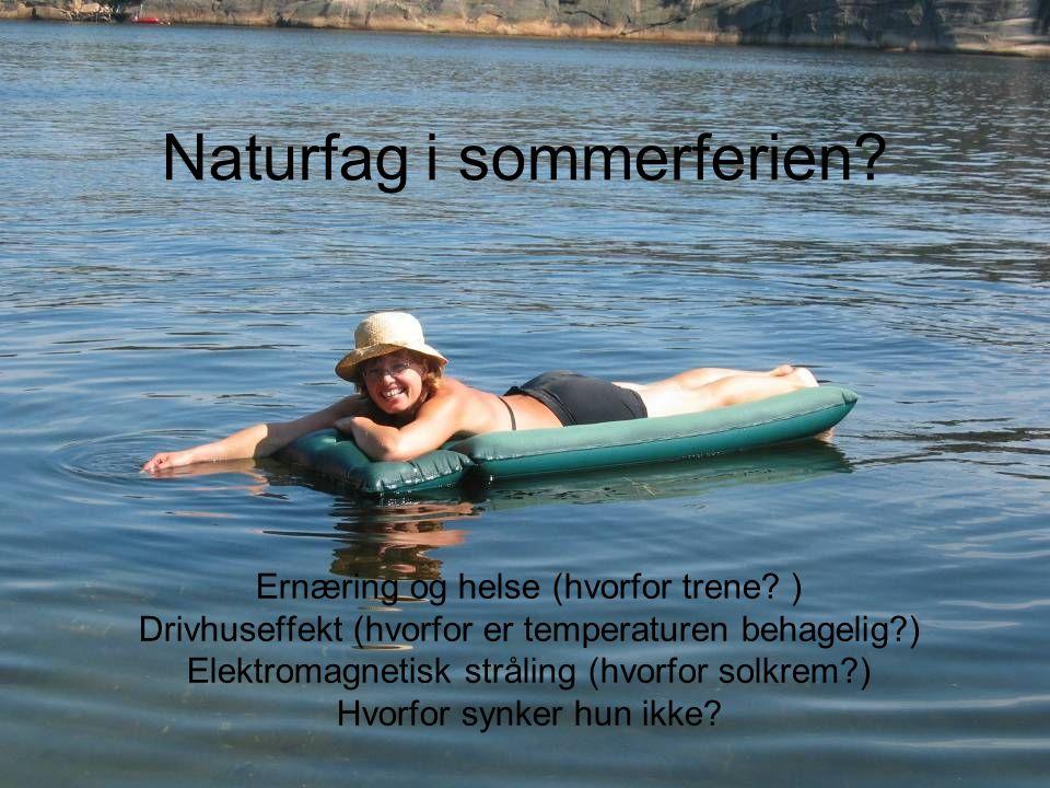 Naturfag i sommerferien