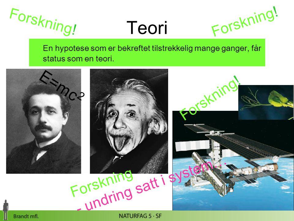 Teori E=mc2 Forskning! Forskning! Forskning! - undring satt i system…