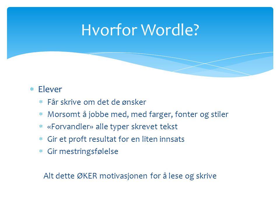 Hvorfor Wordle Elever Får skrive om det de ønsker