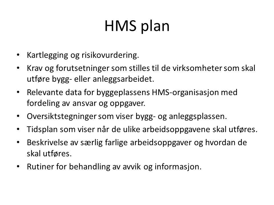 HMS plan Kartlegging og risikovurdering.