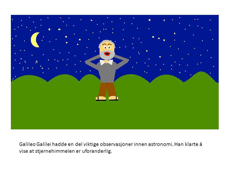 Galileo Galilei hadde en del viktige observasjoner innen astronomi