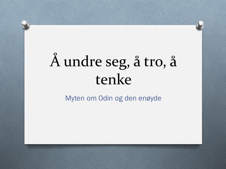 Myten om Odin og den enøyde