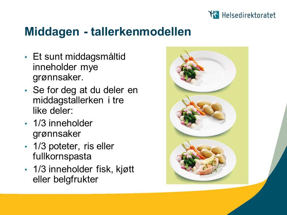 Middagen - tallerkenmodellen