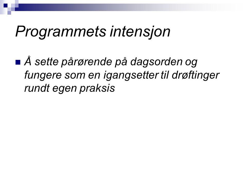 Programmets intensjon