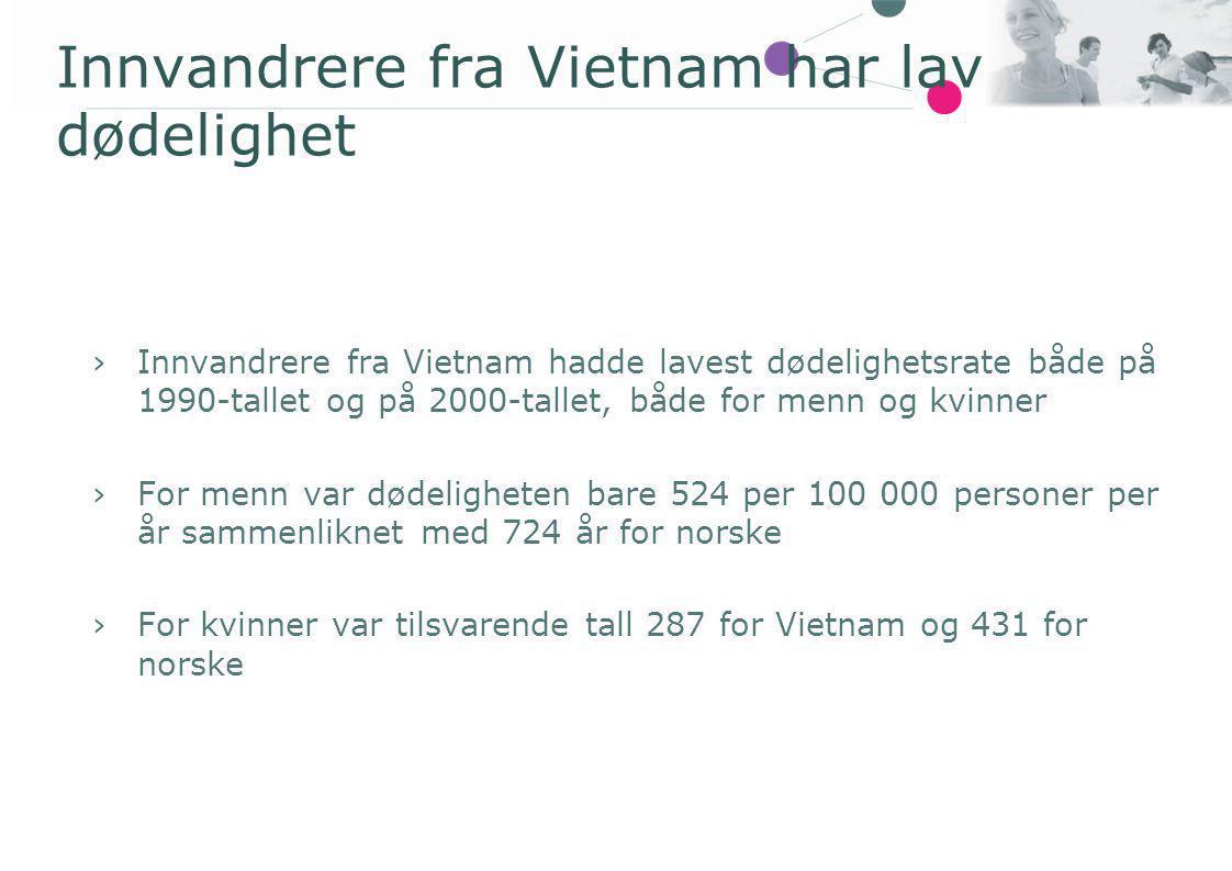 Innvandrere fra Vietnam har lav dødelighet