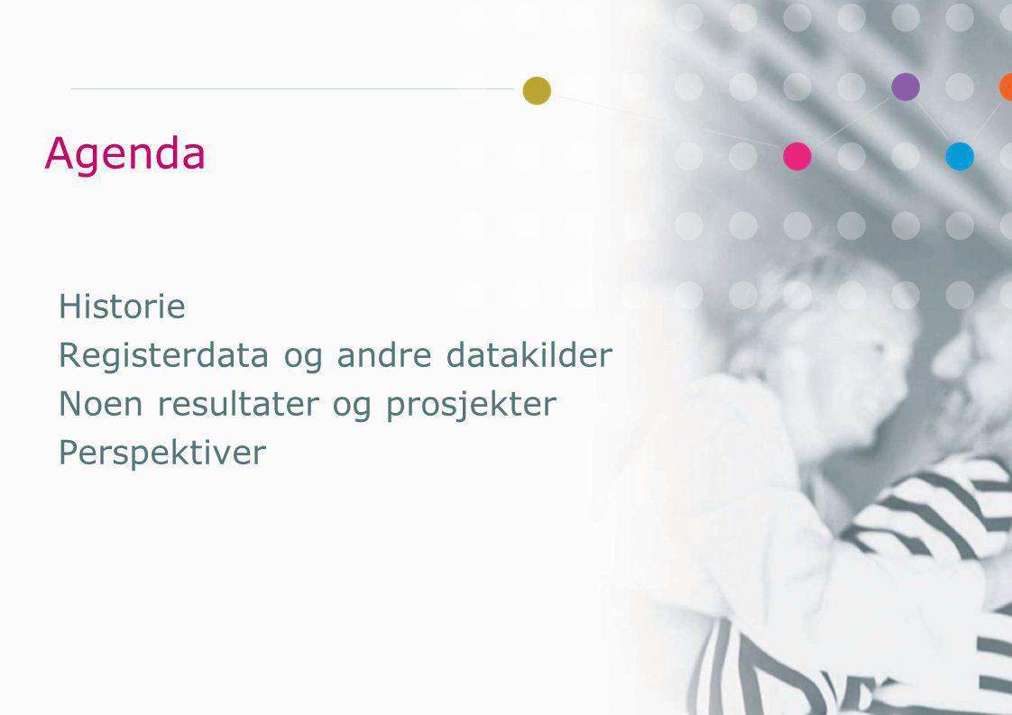 Agenda Historie Registerdata og andre datakilder